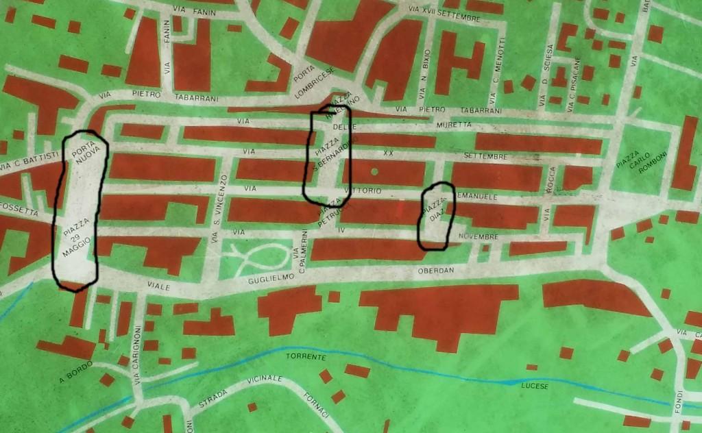 Karta över centrala Camaiore
