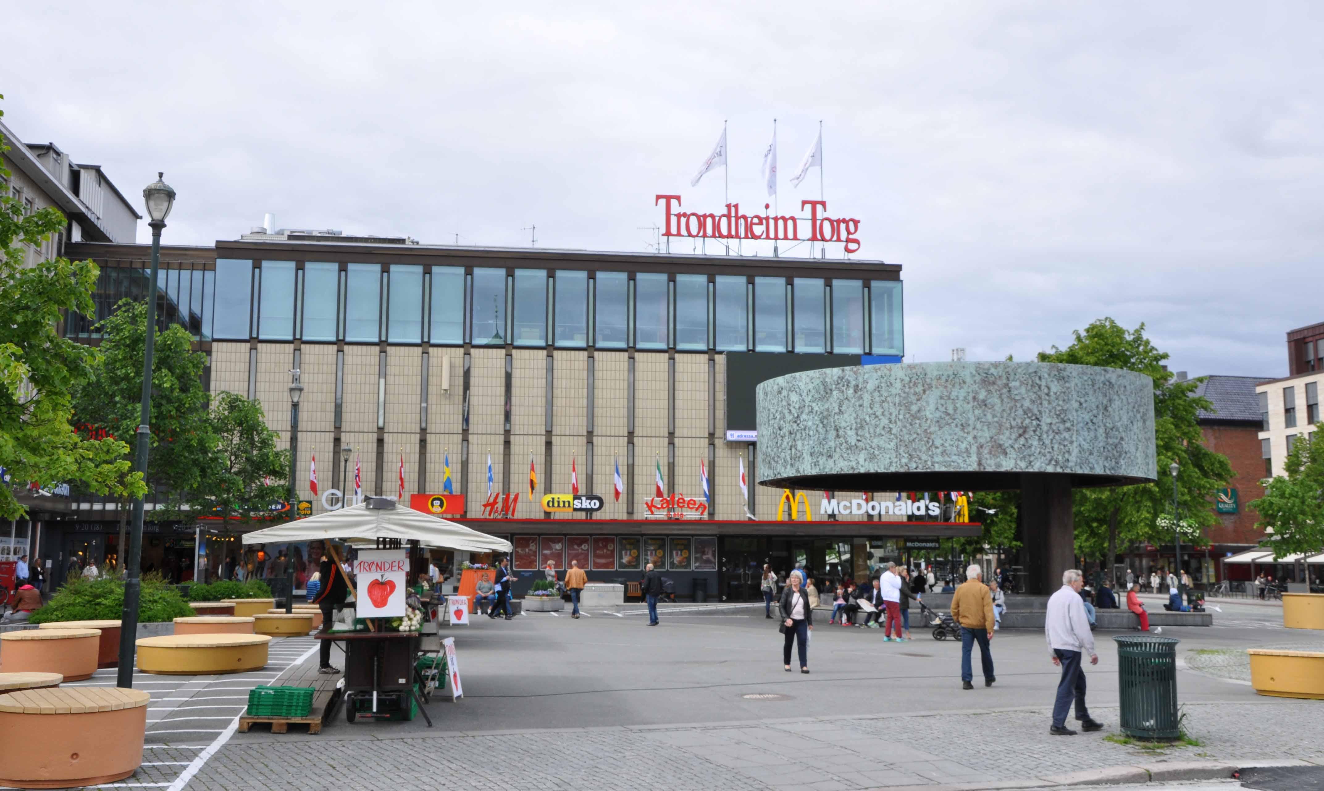 Trondheim Torg och den nya scenen (invigd i 2014-12-12)