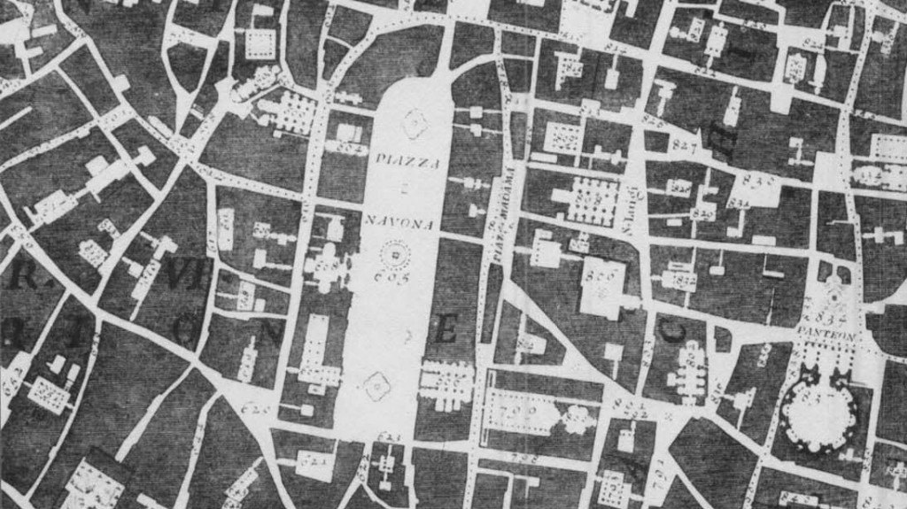 Piazza Navona Nollis karta 1748