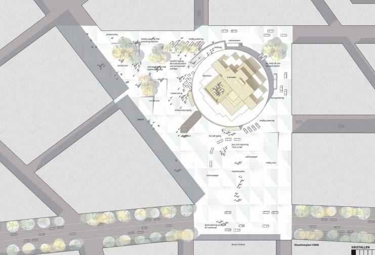 Vinnande stadshusförslag - torget