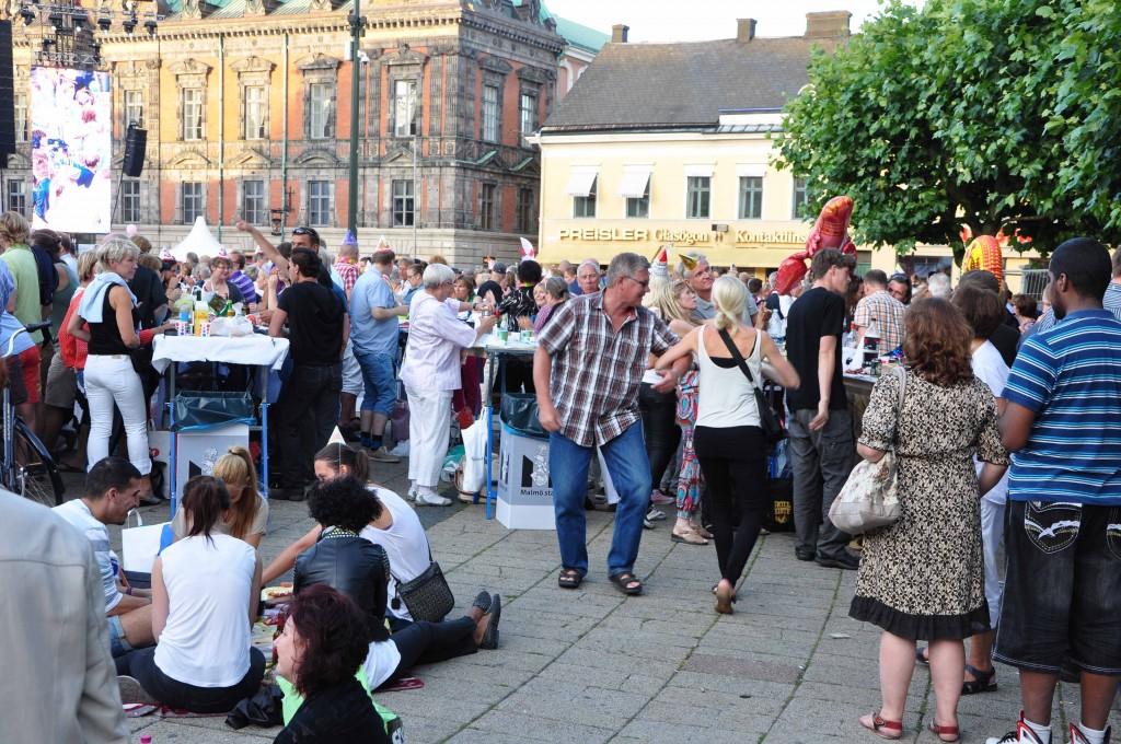 Spontandans på Stortorget vid Malmöfestivalen 2012