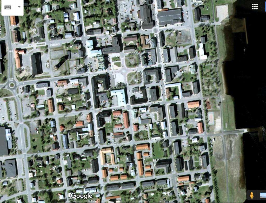Googlekarta över centrala Haparanda