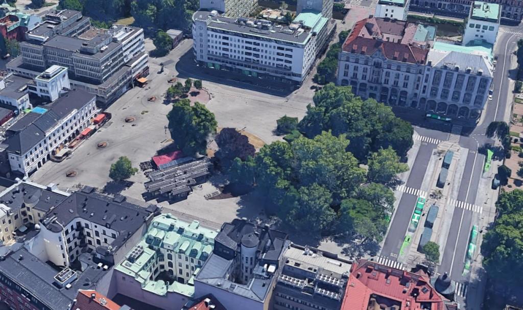 Snedbild 2 över G. A. torg